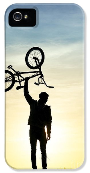 Bicycle iPhone 5 Case - Bmx Biking by Tim Gainey