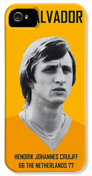 Pele iPhone 5 Case - My Cruijff Soccer Legend Poster by Chungkong Art