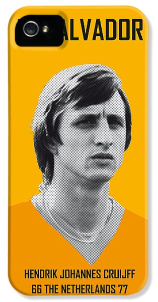 My Cruijff Soccer Legend Poster IPhone 5 Case by Chungkong Art