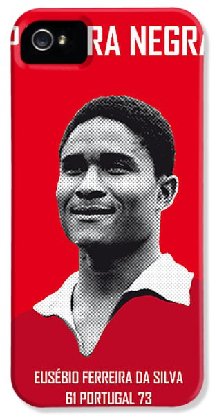 My Eusebio Soccer Legend Poster IPhone 5 Case by Chungkong Art