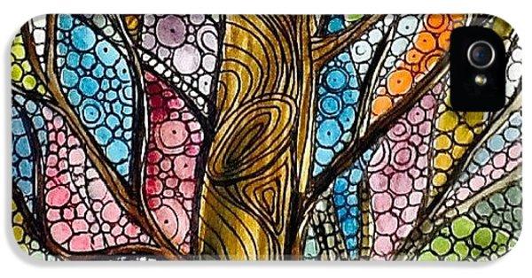 iPhone 5 Case - My Happy Watercolor Tree by Sandra Lira