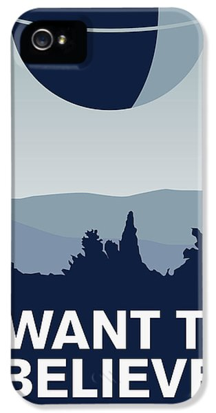 My I Want To Believe Minimal Poster-deathstar IPhone 5 Case