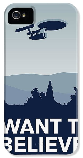 My I Want To Believe Minimal Poster-enterprice IPhone 5 Case by Chungkong Art