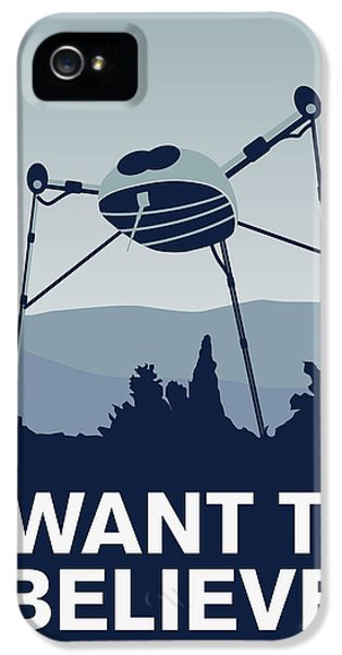 My I Want To Believe Minimal Poster-war-of-the-worlds IPhone 5 Case