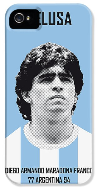 My Maradona Soccer Legend Poster IPhone 5 Case by Chungkong Art