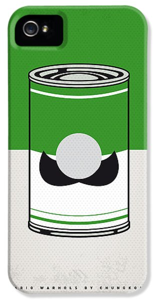 Donkey iPhone 5 Case - My Mario Warhols Minimal Can Poster-luigi by Chungkong Art