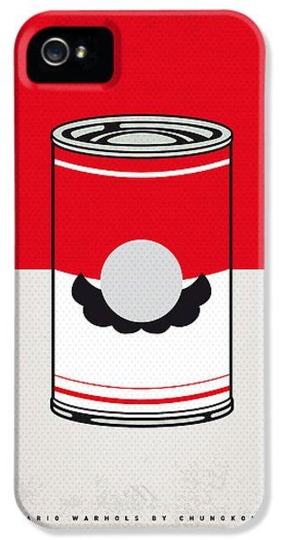 Vegetables iPhone 5 Case - My Mario Warhols Minimal Can Poster-mario by Chungkong Art
