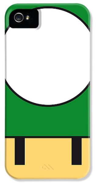 Castle iPhone 5 Case - My Mariobros Fig 05b Minimal Poster by Chungkong Art