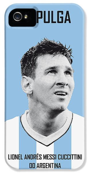 My Messi Soccer Legend Poster IPhone 5 Case by Chungkong Art