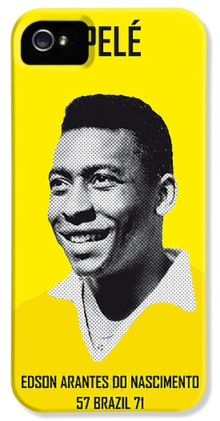 My Pele Soccer Legend Poster IPhone 5 Case by Chungkong Art