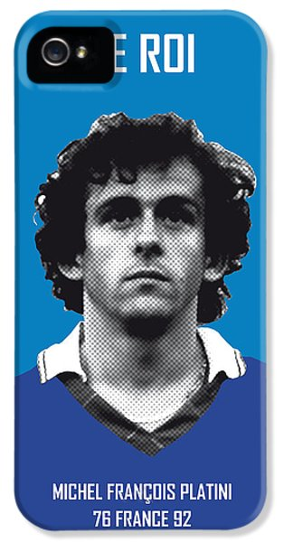 My Platini Soccer Legend Poster IPhone 5 Case by Chungkong Art