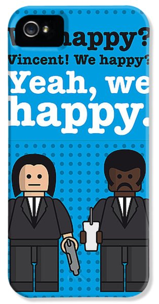 My Pulp Fiction Lego Dialogue Poster IPhone 5 Case