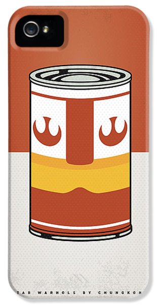 Tomato iPhone 5 Case - My Star Warhols Luke Skywalker Minimal Can Poster by Chungkong Art