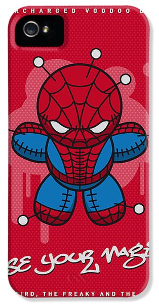 Spider iPhone 5 Case - My Supercharged Voodoo Dolls Spiderman by Chungkong Art