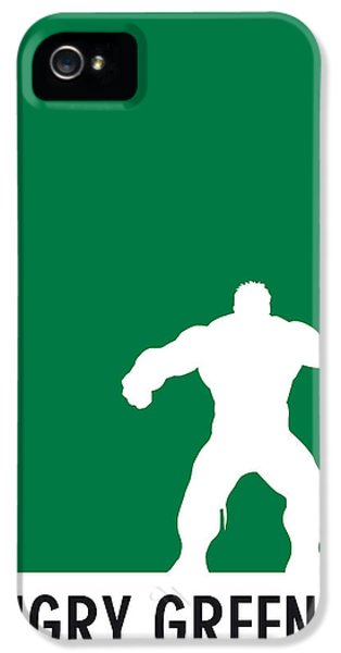 My Superhero 01 Angry Green Minimal Poster IPhone 5 Case by Chungkong Art
