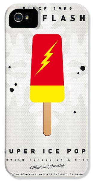 My Superhero Ice Pop - The Flash IPhone 5 Case by Chungkong Art