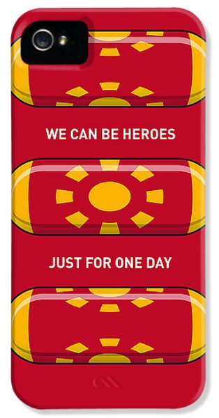 My Superhero Pills - Iron Man IPhone 5 Case by Chungkong Art