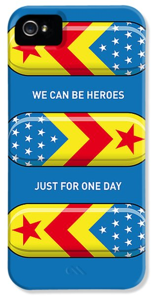 My Superhero Pills - Wonder Woman IPhone 5 Case by Chungkong Art