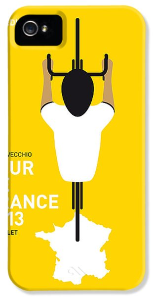 Bicycle iPhone 5 Case - My Tour De France Minimal Poster by Chungkong Art