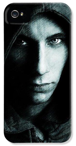 Mystery Man IPhone 5 Case by Gun Legler