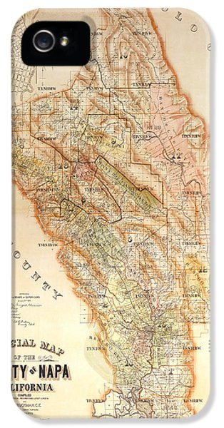 French iPhone 5 Case - Napa Valley Map 1895 by Jon Neidert