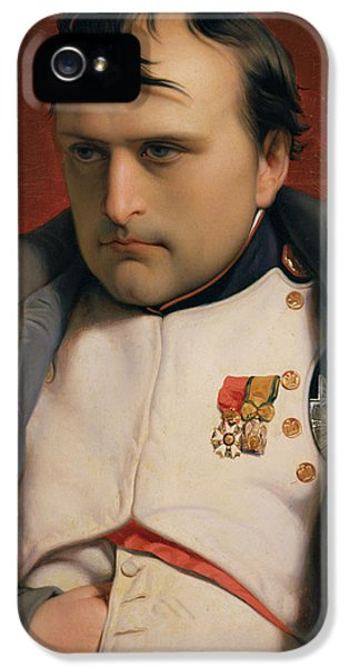Napoleon In Fontainebleau IPhone 5 Case by Hippolyte Delaroche