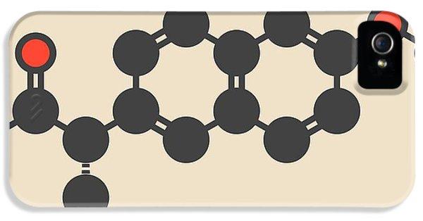 Naproxen Inflammation Drug Molecule IPhone 5 Case by Molekuul