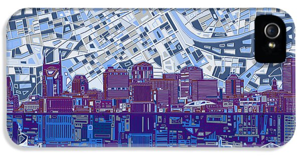 Nashville Skyline Abstract 8 IPhone 5 Case