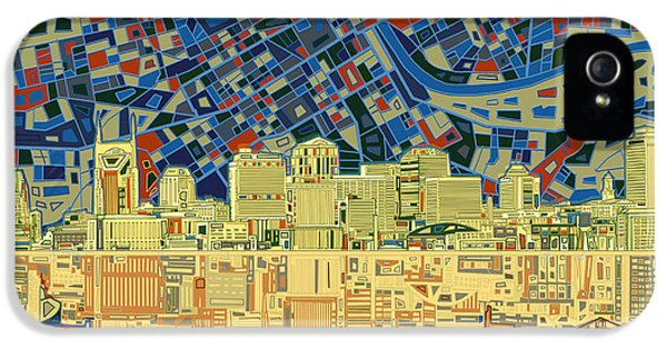 Nashville Skyline Abstract 9 IPhone 5 Case