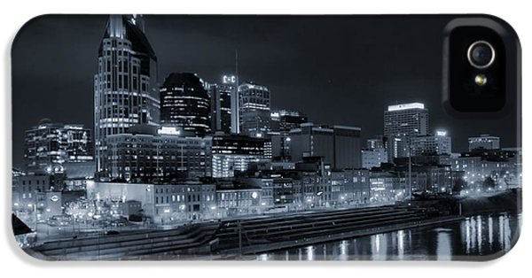 Nashville Skyline At Night IPhone 5 Case by Dan Sproul