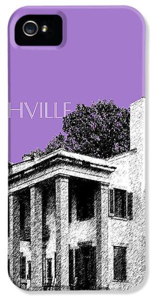 Nashville Skyline Belle Meade Plantation - Violet IPhone 5 Case by DB Artist