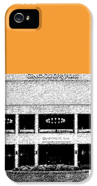 Nashville Skyline Grand Ole Opry - Orange IPhone 5 Case