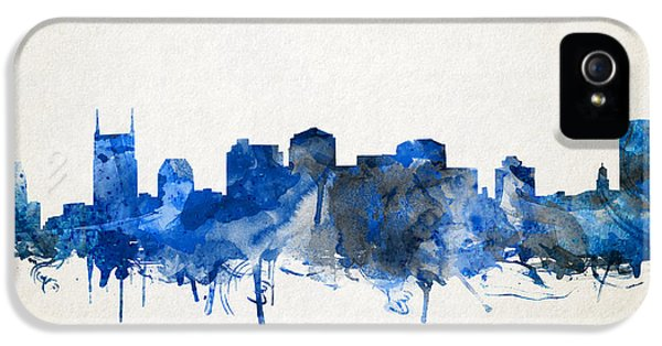 Nashville Skyline Watercolor 11 IPhone 5 Case