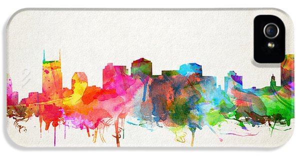 Nashville Skyline Watercolor 9 IPhone 5 Case