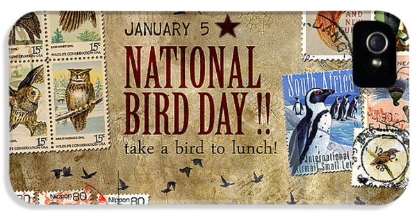 National Bird Day IPhone 5 Case by Carol Leigh