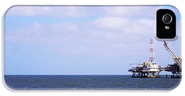 Natural Gas Drilling Platform In Mobile IPhone 5 Case by Panoramic Images