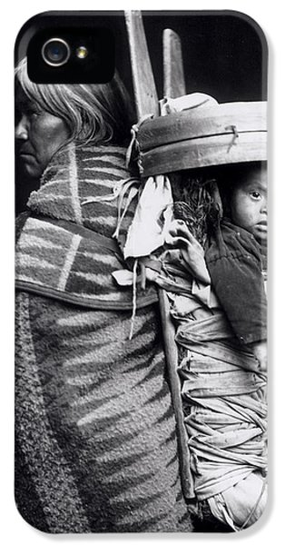 Navaho Woman Carrying A Papoose On Her Back IPhone 5 Case