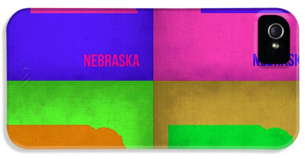 Nebraska iPhone 5 Case - Nebraska Pop Art Map 1 by Naxart Studio