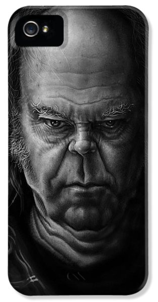 Neil Young IPhone 5 Case by Andre Koekemoer