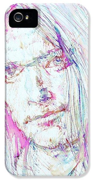Neil Young - Colored Pens Portrait IPhone 5 Case