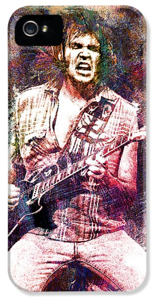 Neil Young Original Painting Print IPhone 5 / 5s Case by Ryan Rock Artist