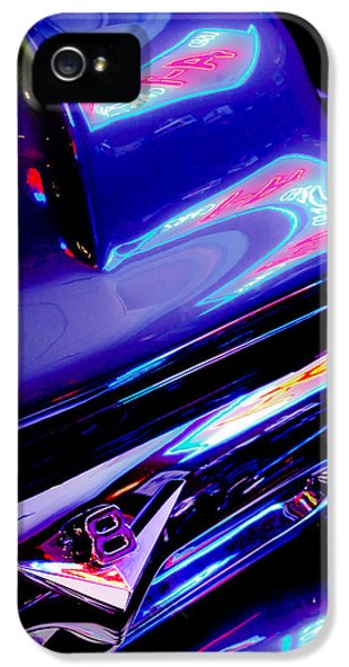 Neon Reflections - Ford V8 Pickup Truck -1044c IPhone 5 Case