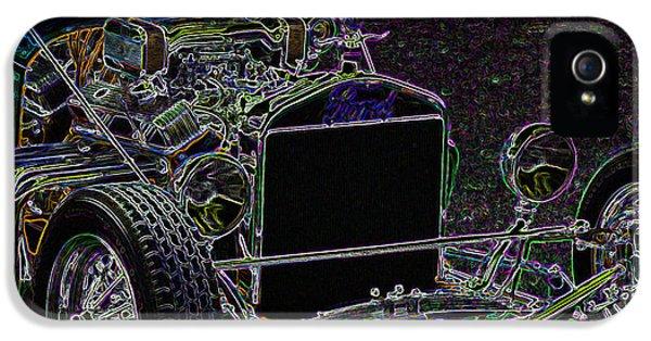 Neon Roadster IPhone 5 Case by Ernie Echols