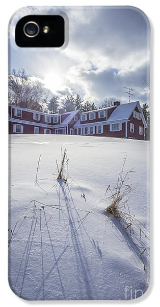 Etna iPhone 5 Case - New England Red Farm House Winter by Edward Fielding