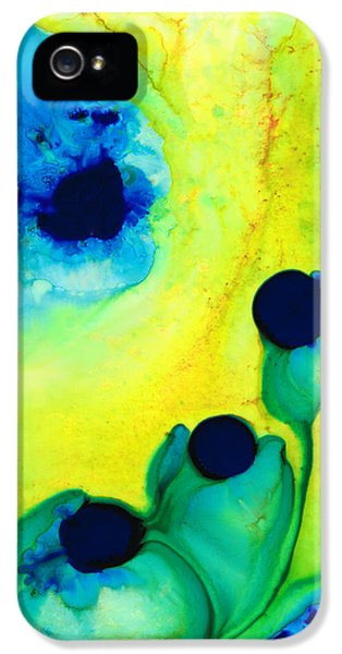 New Life - Green And Blue Art By Sharon Cummings IPhone 5 Case by Sharon Cummings
