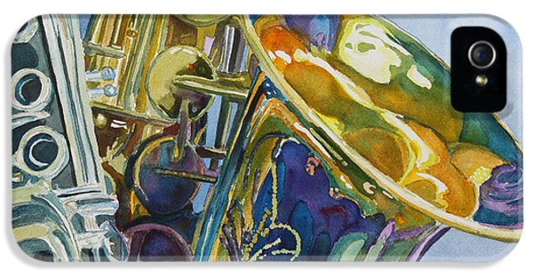 Saxophone iPhone 5 Case - New Orleans Reeds by Jenny Armitage