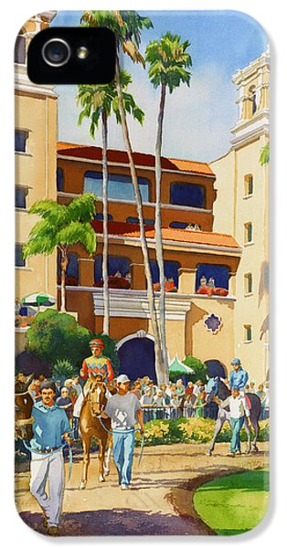 New Paddock At Del Mar IPhone 5 Case by Mary Helmreich
