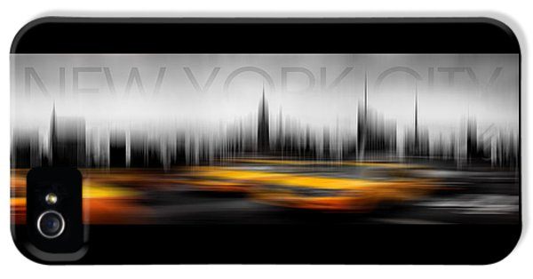 New York City Cabs Abstract IPhone 5 Case