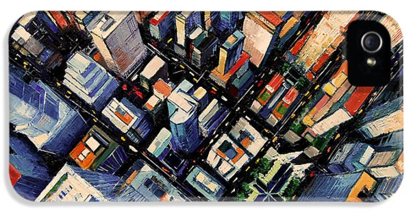 New York City Sky View IPhone 5 Case by Mona Edulesco