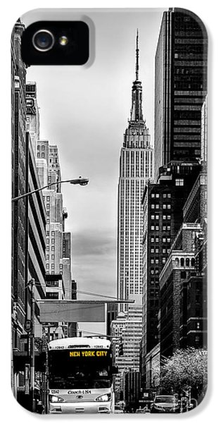 Empire State Building iPhone 5 Case - New York Express by Az Jackson